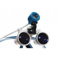Lupas Cirúrgicatitan3.5x420mm Head Lamp Led Optical Blue