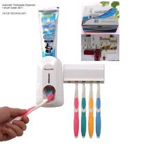 Dispenser Automático P/ Pasta De Dente + Suporte De Escovas