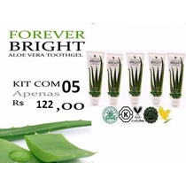 Kit Com 5 Gel Dental Forever Bright Toothgel - Sem Flúor!