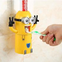 Dispenser Pasta Dente Automático Minions + Suporte Escovas