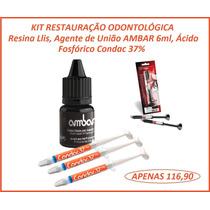 Kit Resutauração Odontológica - Resina, Condac 37%, Ambar