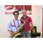 Correia Suspensório Preta Ou Vermelha Para Tds Os Saxofones