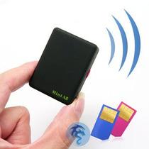 Mini Escuta Espiã Gsm Com Função Rastreador Botão Sos