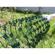 Concertina Galvanizada Revestida Em Pvc Verde 300mm 8m