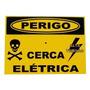 Kit Com 20 Placas Perigo Para Cerca Elétrica Em Alumínio