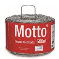 Arame Farpado Belgo Motto Rolo De 500m, 1,6mm, Torção De Fio