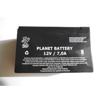Bateria Planet Para Central De Alarmes - 12v - 7,0a Nova