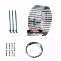 Kit Concertina Protetor Perimetral Cerca Ouriço 10 M 315 Mm