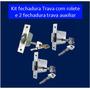 Fechadura Rolete P/ Porta Madeira Duas Travas Auxiliares