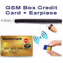 Lançamento Cartão De Crédito Escuta Gsm C/ Ponto Eletrônico