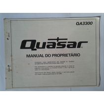 Manual Original Amplificador Quasar Qa 3300
