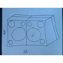 Caixa Para Altofalante Pioneer Cara Preta Mdf15mm Pelego Box