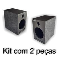 Kit Com 2 Caixas De Som P/ Falante De 6 Mtx Dutada Mdf15mm