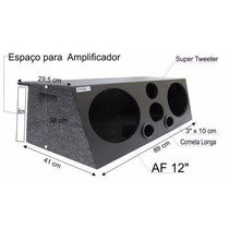Caixa Trio Som Automotivo 2x12 (84 L)dutada+corn.+tweter(03)