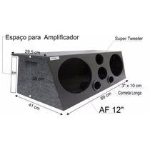 Caixa Trio Som Automotivo 2x12 (84 L)dutada+corn.+tweter(05)