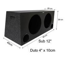 Som Automotivo Super Bass 2 X12 90 Litros Prof. Dutada Prom