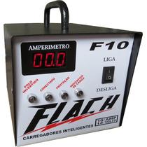 Fonte Carregador Automatico Flutuante Flach F10 Carro Moto