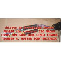 Chicote De Instalação Lenoxx Ad1826 Com Conector Iso Macho