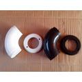 Curva Com Suporte Redondo Nylon Para Corrimão Alumínio