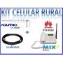 Kit Celular Mesa Rural - Telefone + Cabo + Antena Externa