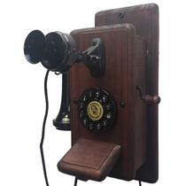 Telefone Antigo Retro Vintage Minitel Mogno Frete Grátis