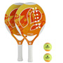 Kit Tênis De Praia (2 Raquetes+ 2 Bolas De Beach Tênis)