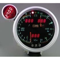 Auto Gauge Conta-giros 5 Pol. 127mm 6 Em 1 Smoke Shift Light