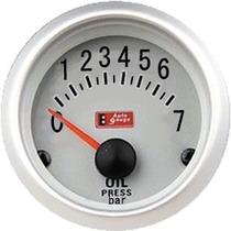Auto Gauge Pressão Oleo Bar C/ Sensor Eletrico 52mm Silver S
