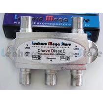 Chave Diseqc 4x1 - Lenharo Mega Store - Suporte A Canais Hd