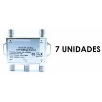 Chave Diseqc 4x1 Pacote Com 7 Unidades Originais