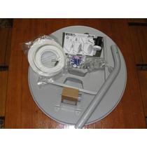 Antena 60cm Banda Ku + Lnbf + 20mts De Cabo + Fixação