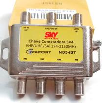Kit Com 10 Chave Comutadora 3x4 Sky Frete Gratis