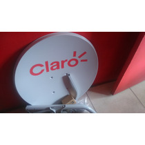 Antena Claro Tv 60cm Gratis (lnbf Ku Siples + 4 Chubador)