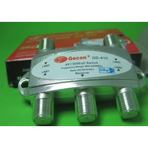 Chave Diseqc 2.0 Gecen 4x1 Switch 4 Portas Gd-41