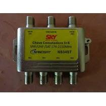 Chave Comutadora Advansat 3x4 Amplificada