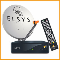 Kit Elsys Oitv Livre Hd Etrs35 Completo Antena 60cm Lacrado