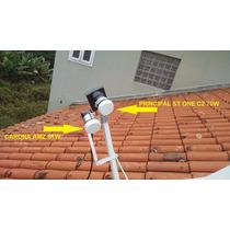 Kit Carona 70w 61w Banda Ku Parabolica Lnbf Antena 60cm 90cm