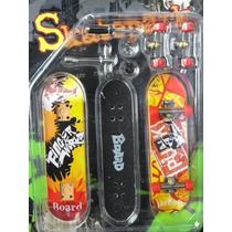 Cartela Com 3 Modelos Minis Skate De Dedo Com Acessórios