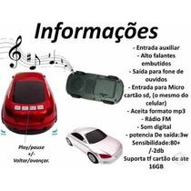 Caixa De Som Carrinho Carro Portatil Radio Fm Usb