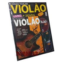 Curso Completo De Violão Livro + 3 Dvds Aprenda Rápido