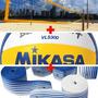 Kit Vôlei: Vls 300 Mikasa Rede Oficial Praia Fita Promoção