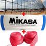 Kit Vôlei : Bola Mikasa + Rede Oficial Praia + Fita Promoção