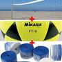 Kit Profissional Futevôlei Mikasa Ft5+rede Futevole+marcaçao