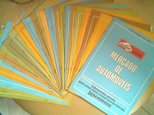 Encarte Mercado De Automoveis Tabela Preços 4rodas Auto 4
