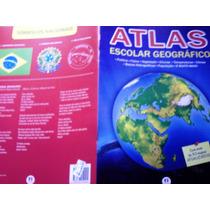 Atlas Escolar Geográfico - Com 30 Mapas Atualizados