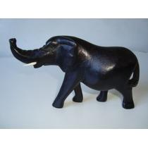 Elefante Africano Esculpido Madeira Escuro África G 3