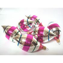 Enfeite Arvore De Natal Em Vidro, Pingente Listra Colorido