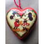 Bolas De Natal Motivo Mickey Minie Vintage Forma De Coraçao