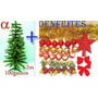 Árvore De Natal Verde Pinheiro 1,2mt 100g+50 Enfeites.alfa.