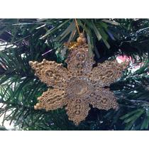Enfeite Natalino 4 Estrelas Douradas 12cm
